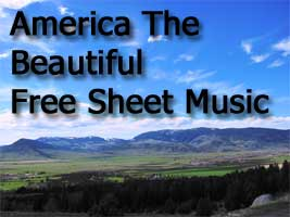 Free Sheet Music To America The Beautiful