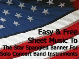 Star Spangled Banner Free Sheet Music Image