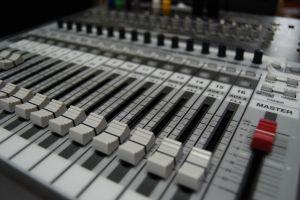 Sound System Mixing Board